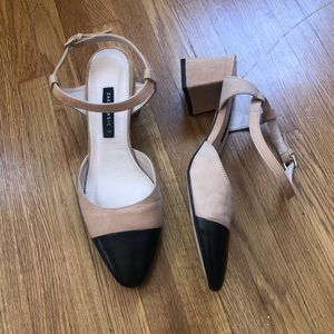 Zara two toned shoes size 39 us 8